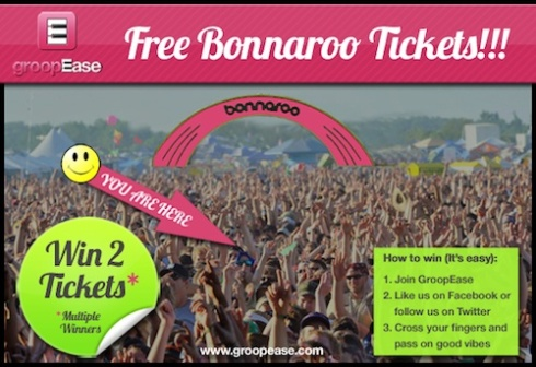 Bonnaroo, Ticket, giveaway, GroopEase, sweepstakes, yourmusictoday